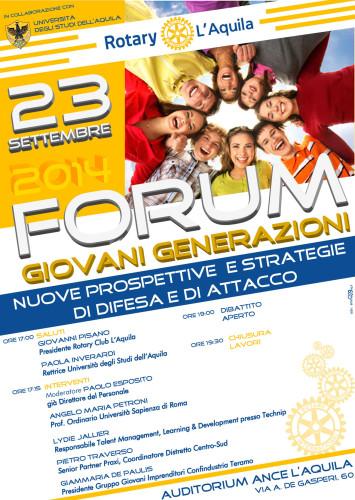 Forum Giovani  Generazioni