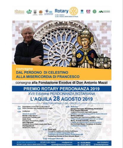 Premio Rotary Perdonanza 2019 a Don Mazzi